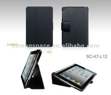 2015 leather flip case for mini ipad case, belt case for ipad mini