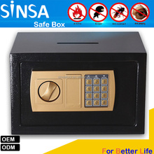 2017 Mini cheap steel safe box with coin slot for school student home kids