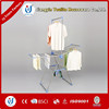 Foldable metal baby clothes hanger stand