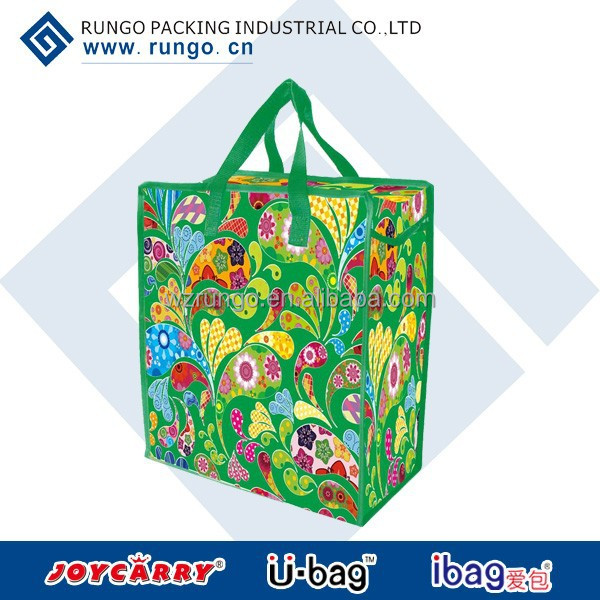 reusable pp woven lamination shopping bag