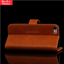 2015 Original for iPhone 5 High Snap Durability Hotest Credit Card Leather Wallet Purse Card Slots Case