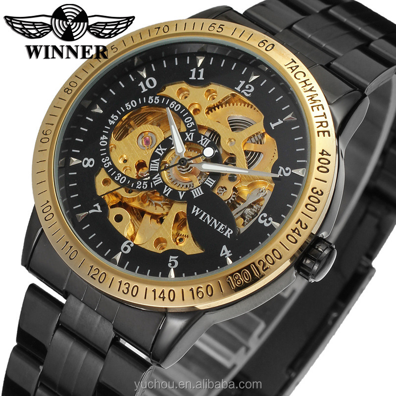 winner brand cheap watches automatic mechanical wrist watch