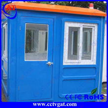 Popular guard house new design low cost small size mobile sentry ticket room traffic box booth