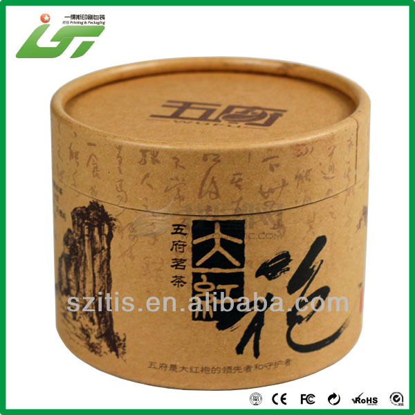 Top quality brown kraft paper tube and wholesale round <strong>box</strong>