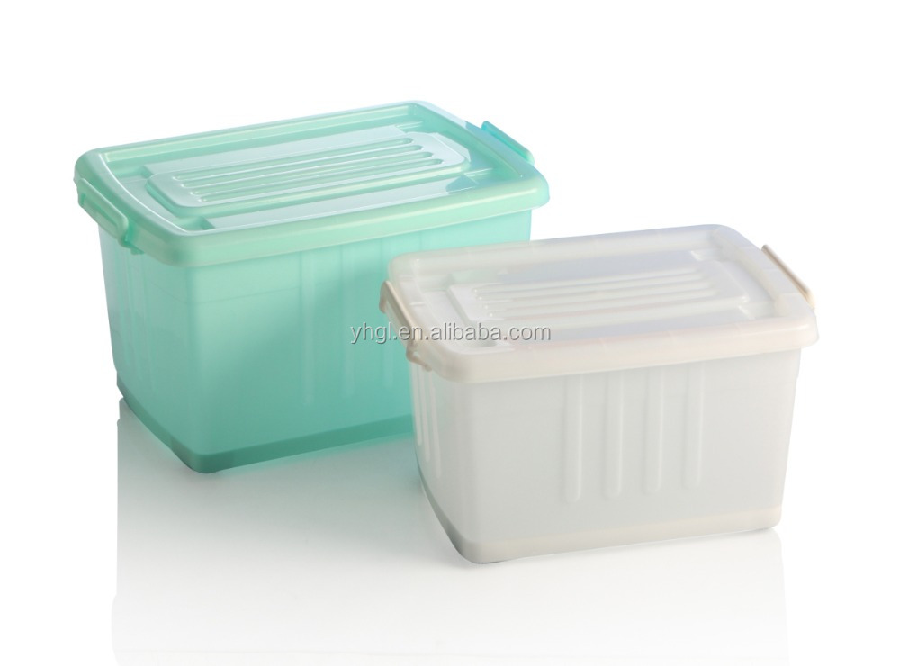 Professional made quality-assured under the bed 40L plastic storage box with lid