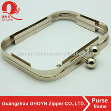 high quality low price custom clutch bag metal frame box purse frame