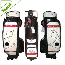 Customized PU Mini Golf Cart Bag With Wheels for Ladies
