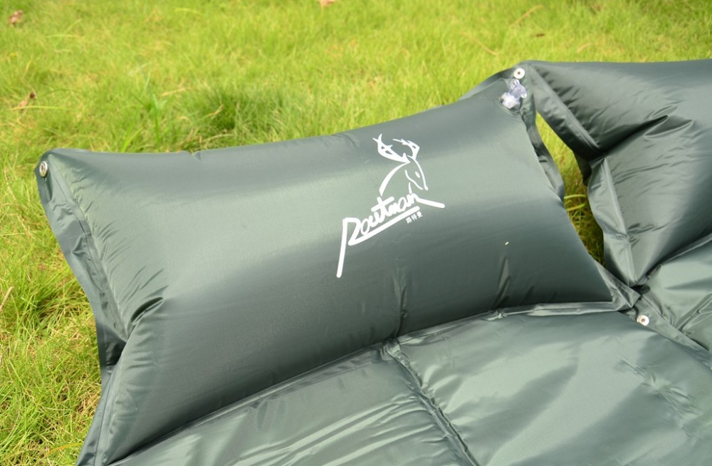 Self Inflatable Picnic Camping Mat with Pillow Air Bed Sleeping Pad Matress