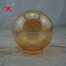 Amber color ball shape glass light cover