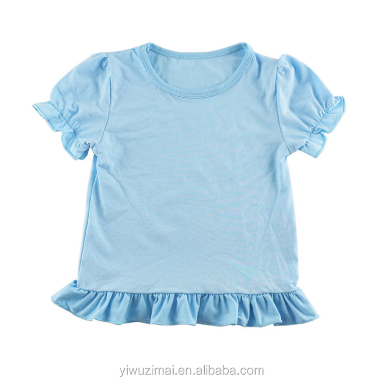 Wholesale Solid Color Baby 100%Cotton <strong>T</strong> <strong>Shirts</strong> Summer Fashion Western Kids <strong>Shirts</strong> Short Sleeve Tops For Girls