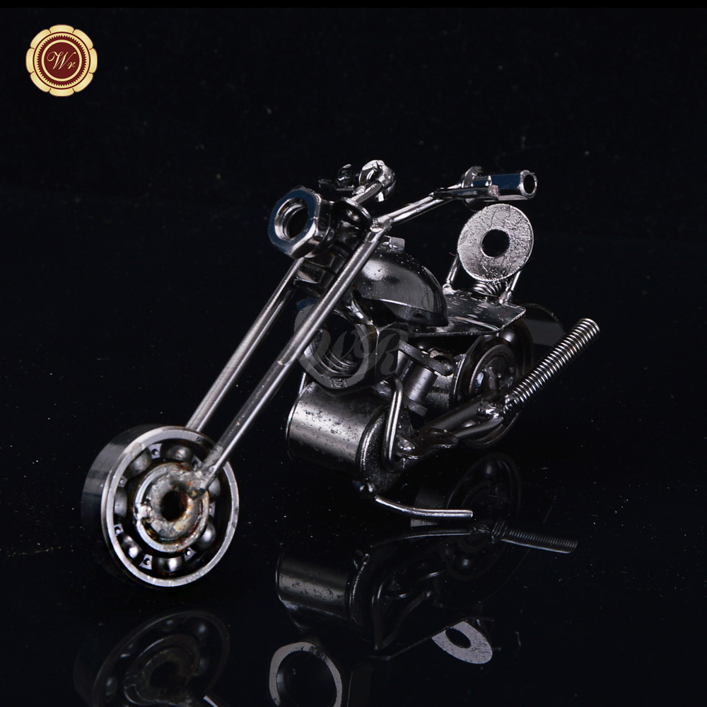 WR Handmade Crafts <strong>Mini</strong> Metal Motorcycles Model Iron <strong>Motorbike</strong> Toy Gifts Vintage Office Ornament 15*6*10.5cm