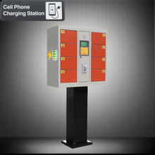 Coin Operated Cell Phone Charging Station Locker With Stand