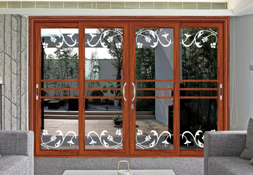 Large double pane used sliding glass doors sale with built in blinds