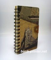 Spiral paper notebook with lock