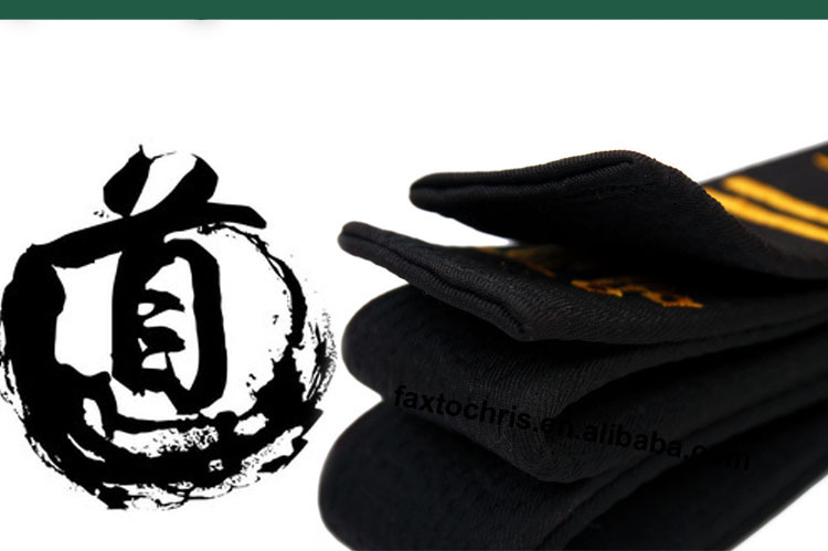100% cotton Taekwondo/karate black belt