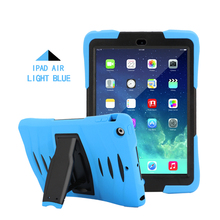 high quality anti gravity shockproof Silicone + PU Case for iPad air