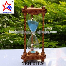 2017 valentine day gifts metal custom 30 minute Sand Hourglass Glass Sand Timer