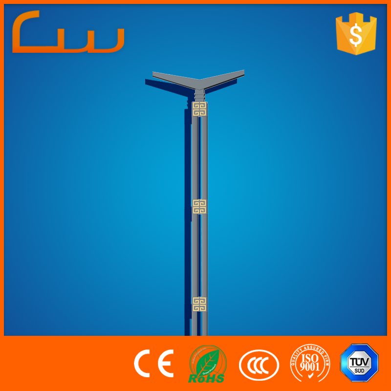 exterior outside door 6m steel lighting pole without lamp fixtures