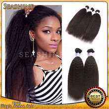 wholesale Grade 7A kinky straight hair, peruvian kinky straight braiding hair