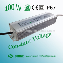 100w high quality 24v 4.15a Aluminium case led driver/ power supply ,ac/dc strip shape led switching power supply dc24v