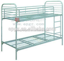 Commercial dorm furniture,cheap metal double dorm bunk bed for sale