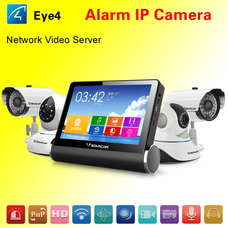 NVS(Upgrated DVR) network video server with HDMI interface 2 way audio wireless digital ip camera