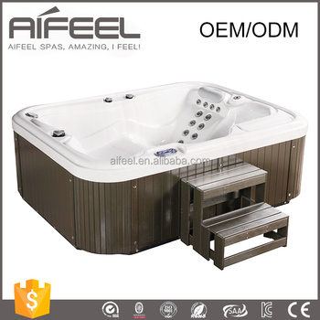 AF-3101 freestanding acrylic whirlpool massage portable 2 person indoor hot tub with 2 loungers