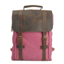 Women's Vintage Fashion Laptop Backpack Bag with Leather Handle Fit 14 inch Tablet