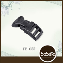 Multicolor Contoured Curved Side Release Plastic Buckle