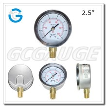 High quality brass internal water pump pressure gauge