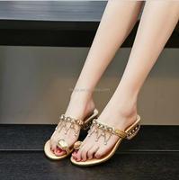 L1194A 2017 summer wholesale flip flops women low heel sandals slipper