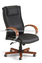 Leather office chair, Office Waiting chair, Office Wooden Waiting chair