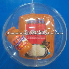China most popular inflatable large clear plastic ball