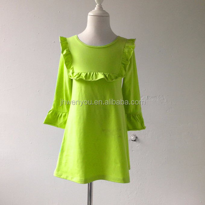 Cheap China traditional girls kids wear kids western wear dresses girls dresses with bib dresses for girls of 7 years old