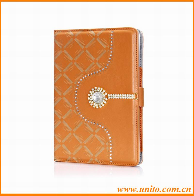 luxury diamante folio stand cover case for ipad mini retina