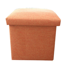 Buy ottoman online living room small fabric square storage stool cheap
