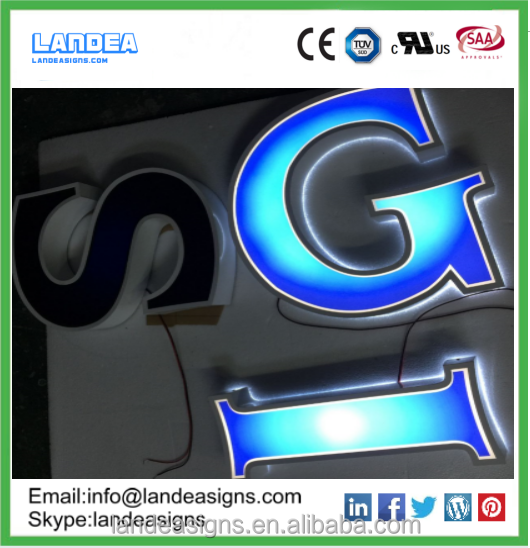 Factory made cheap led channel letter for company names