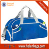 Blue fashion cheap Promotional Sport Bag with shoe pocket