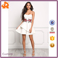 OEM Hot Selling New Fashion Ladies Dress Rose Applique Flared Girls Party Dresses