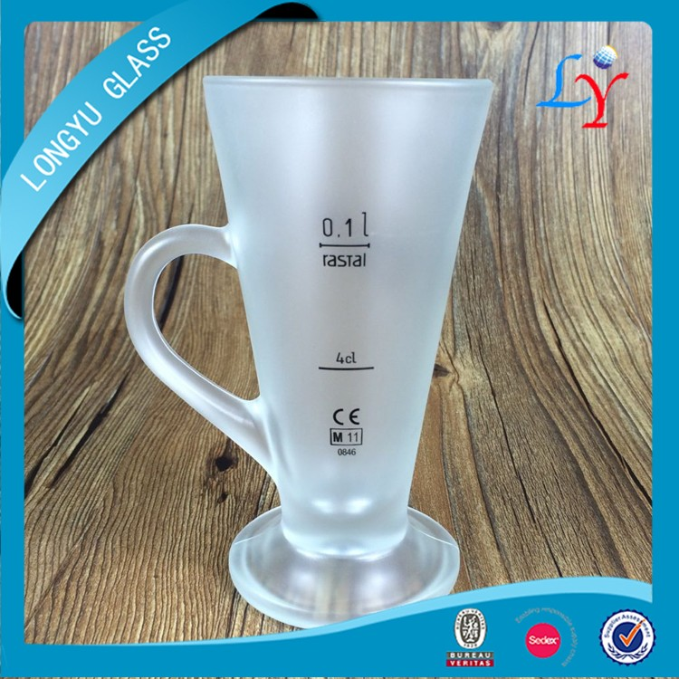 sublimation bulk glass coffee mug with printing