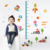 Hot Sale Kids Cartoon Character Growth Chart Wall Stickers For Home Decor