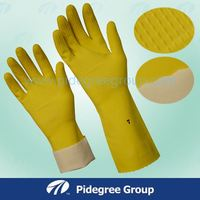 "12"" Flocklined Household Rubber Gloves / Rubber Household Gloves"