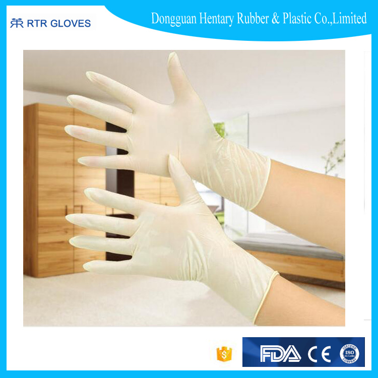 Hot selling food service latex gloves for examination for hospital