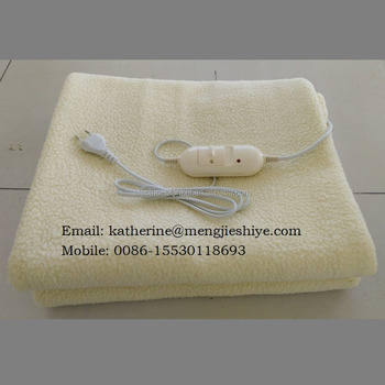 synthetic wool electric heating blanket