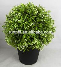 30-50cm height weather-resistant and long lasting boxwood ball faux topiary