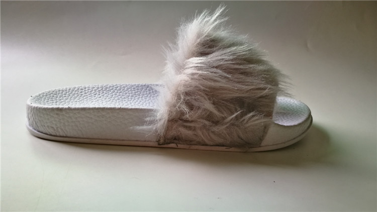 women faux fur lined slide slipper sandles CX428AS01