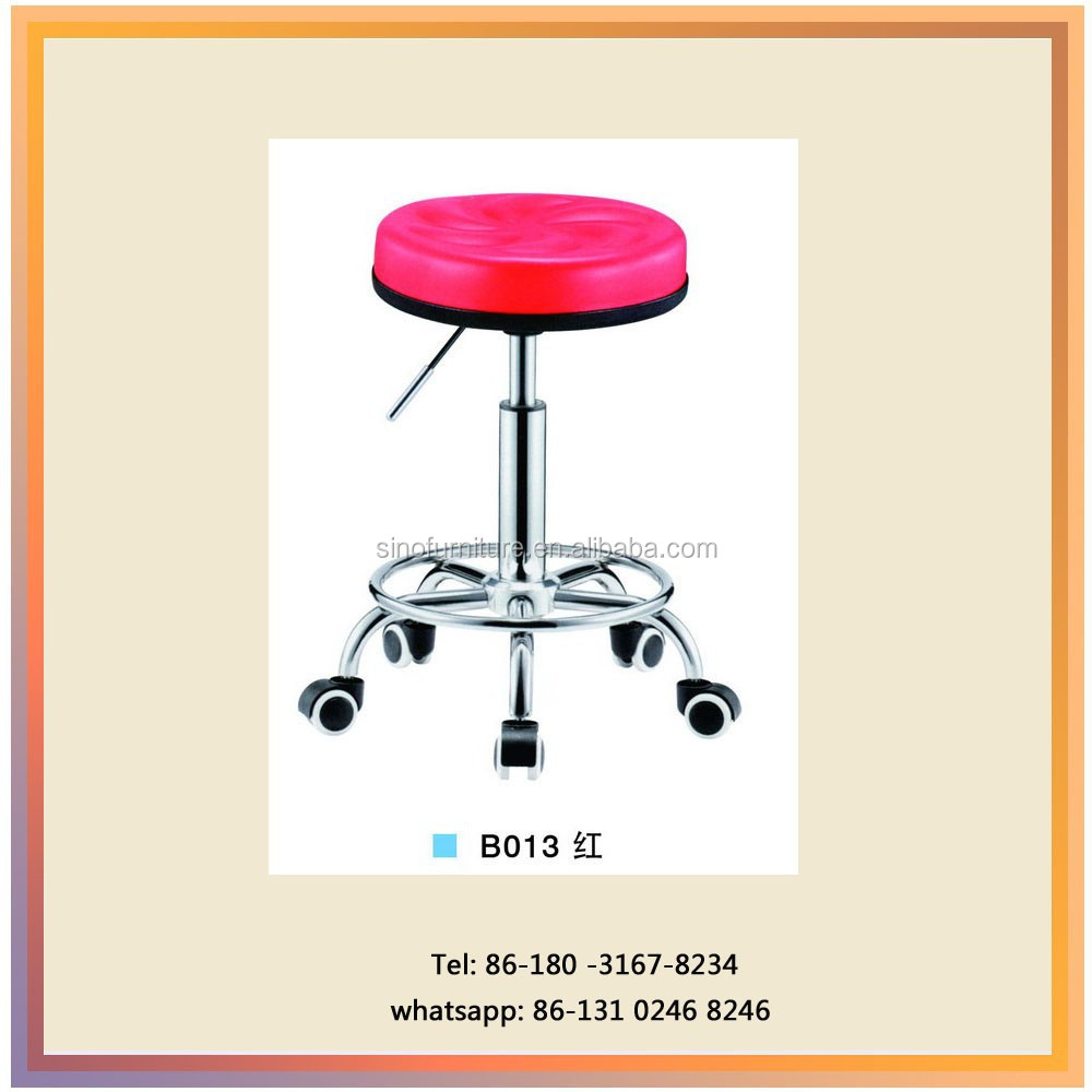 Modern Cheap Salon Furniture Barber Luxury Beauty Salon Chair with Wheels Stool Shop Bar Chairs