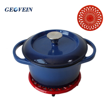 Enamel Coating Cast Iron Cookware Pot/ Casserole Pot