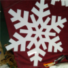 Custome snowflake plastic snowflakes decorative snowflakes