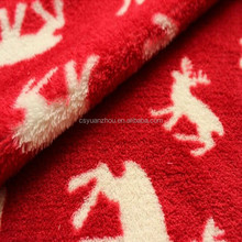 Coral fleece fabrics animals pattern deer for pajamas